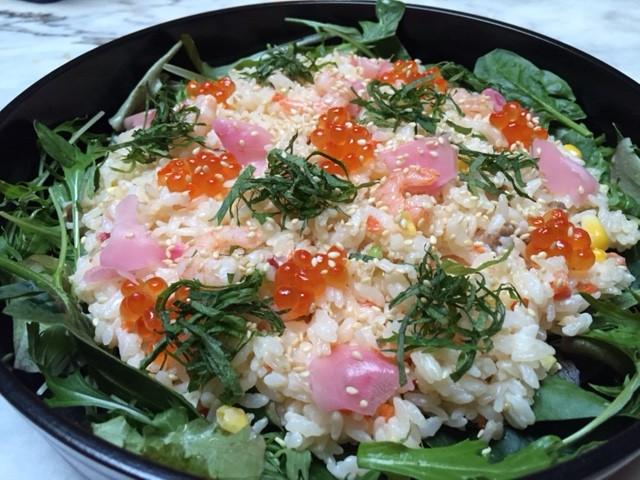 ひな祭りにスピード散らし寿司