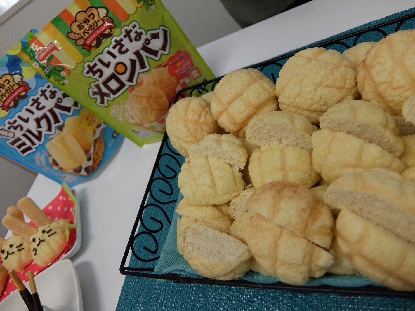 親子で作る「焼きたてパン」。デコっても楽しいメロンパンはデザート系?