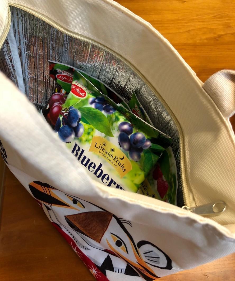 シリアルには冷凍フルーツ! ぜったいもらえるキャンペーン(保冷バッグです)
