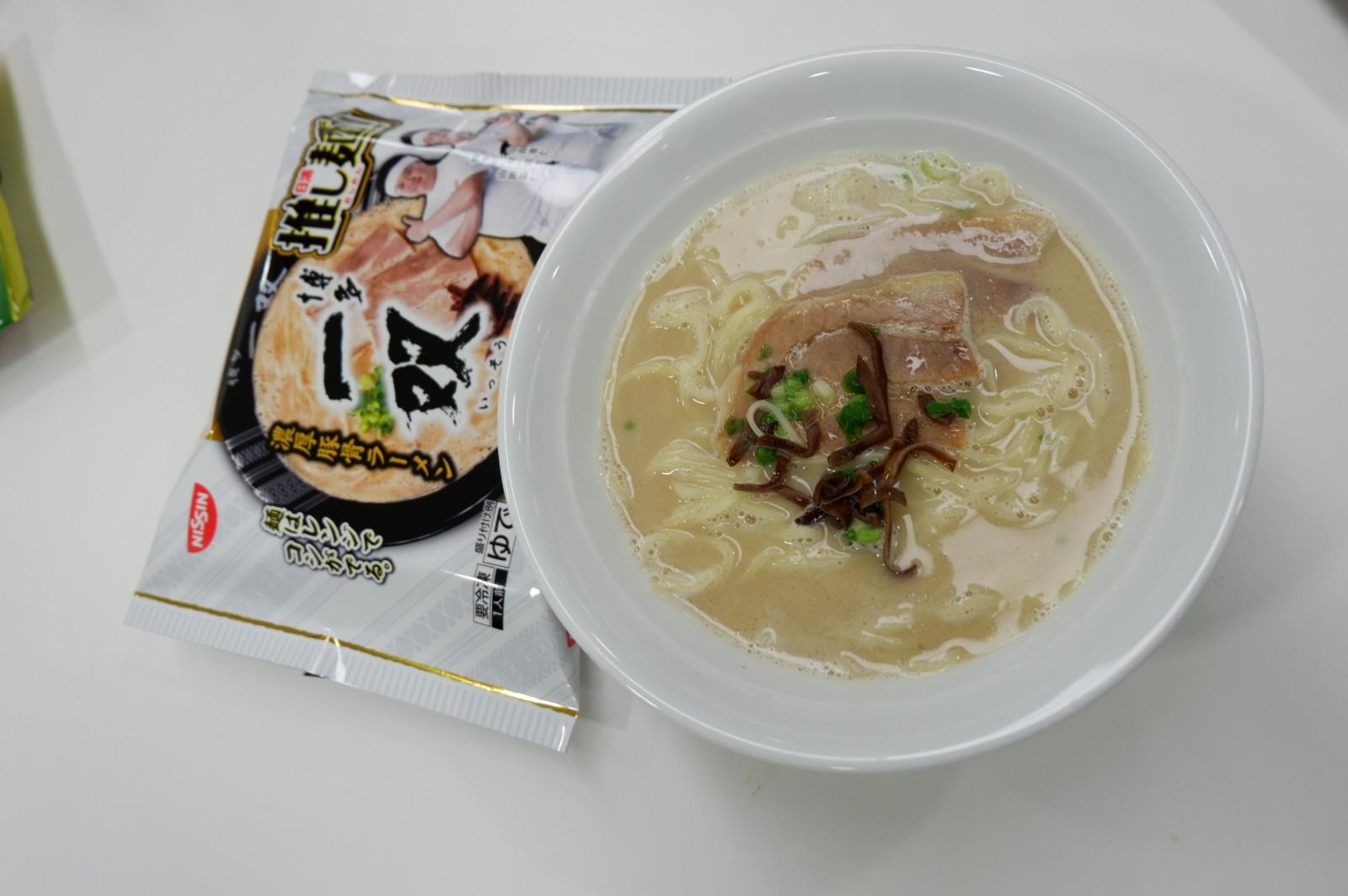 「冷凍 日清推し麺!」 第4弾は、バリカタの「博多 一双」