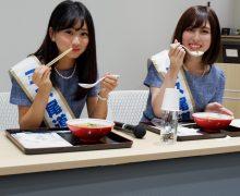 ミス尾道、東京でキンレイ「お水がいらない 尾道ラーメン」を食べる♪