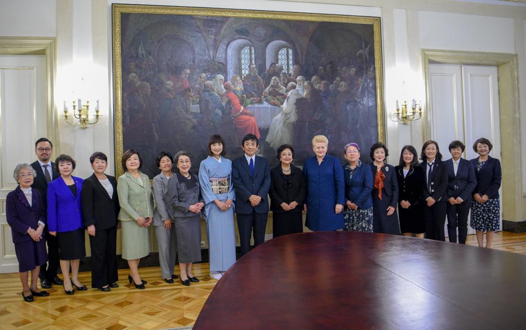 WF-NET リトアニア大統領と女性の社会的活躍、両国交流について歓談