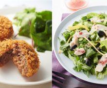 ヘルシーなお肉惣菜、「RF1」に「亜麻仁の恵み牛のミンチカツ」などニチレイフレッシュとのコラボメニュー