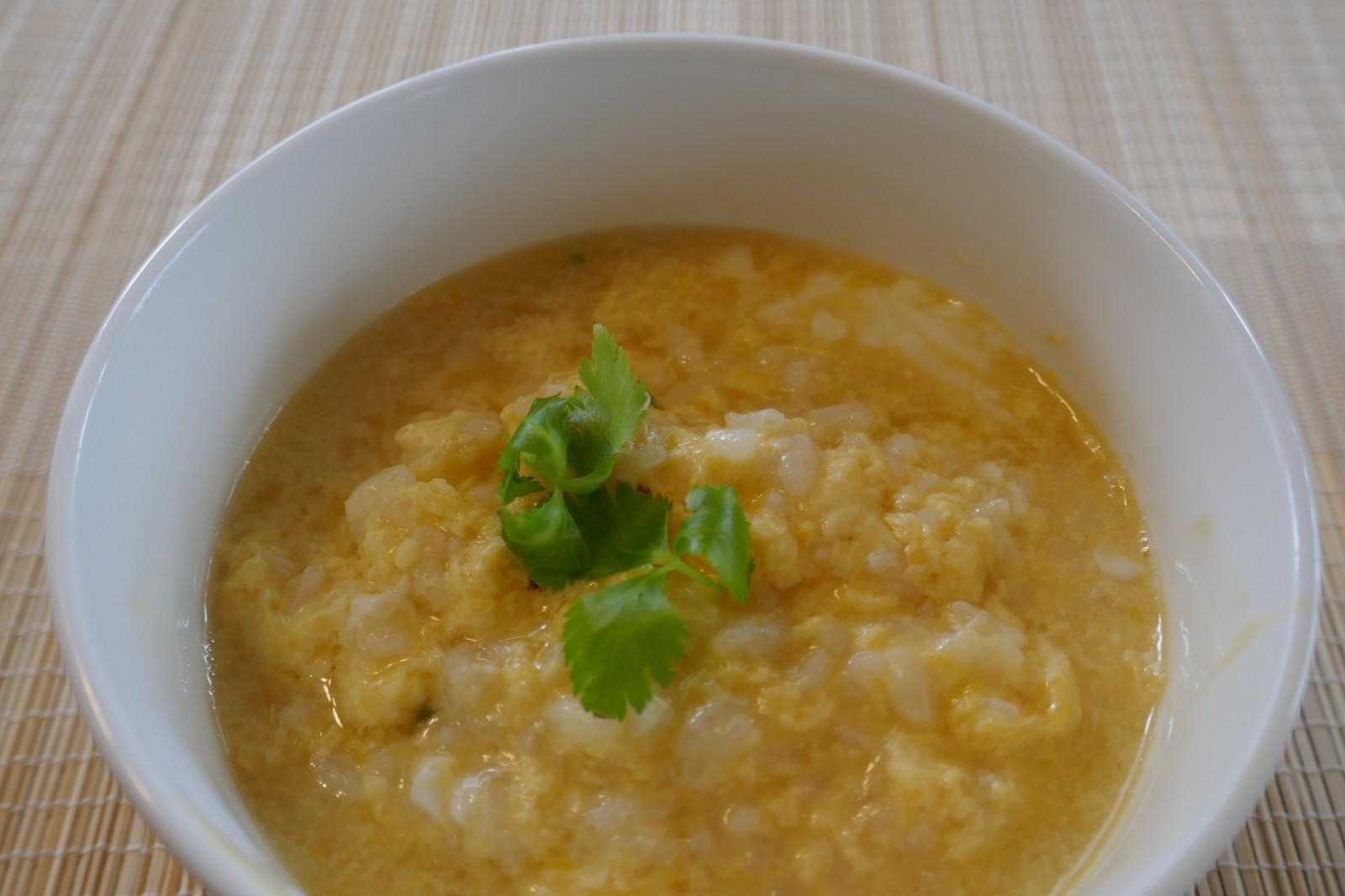 最近ハマっている「沖縄風そば」→ 卵雑炊 だしが美味すぎて、、、、