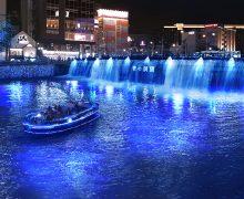 青い滝をクルーズ船で~『青の洞窟』イルミネーション、今年は福岡・中州に! 9月16日から10月6日まで