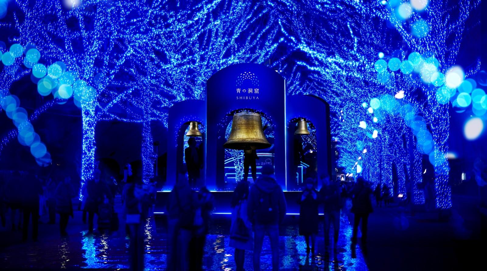 『青の洞窟 SHIBUYA』2019は幸せを呼ぶ金色の鐘を鳴らす~