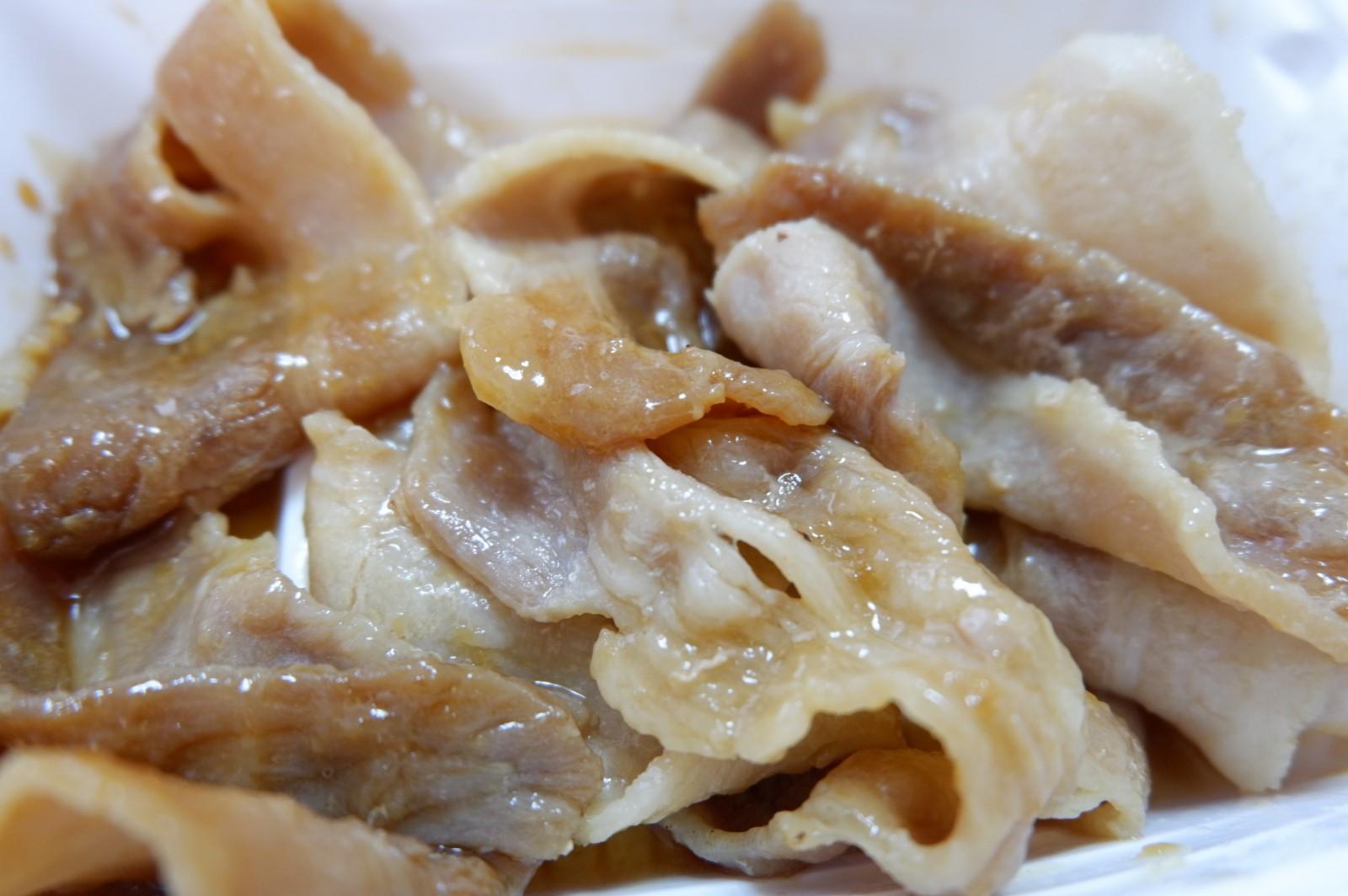 お肉5枚!食べ応えあり♪ファミマの肉料理冷凍食品 「豚の生姜焼き」291円(税込)