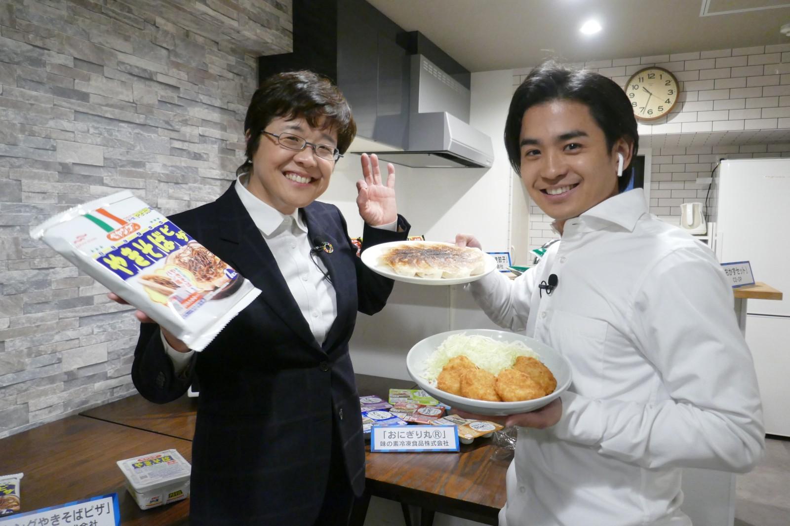 AbemaTV「Abema Prime」のトレンド生中継(3/12)で冷凍食品ご紹介
