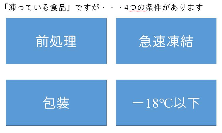 冷凍食品道場 入門編【その7】メリットいっぱい、冷凍食品の『4つの条件』の話